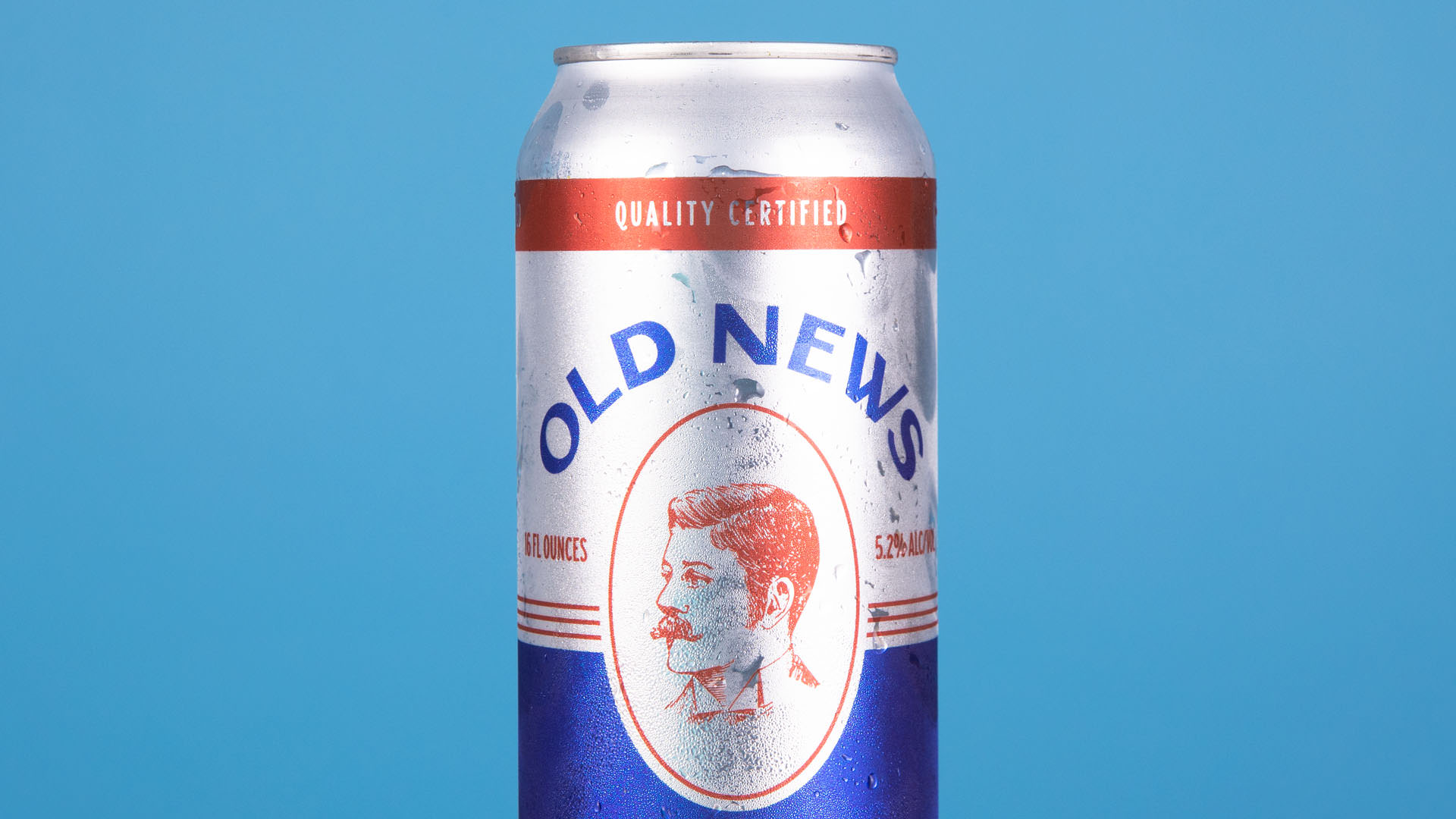 old news beer by Lincoln's beard brewing